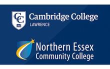 Cambridge College and Northern Essex Community College logos